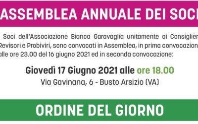 Convocazione Assemblea dei Soci 2021