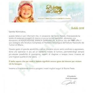 Lettera donazione